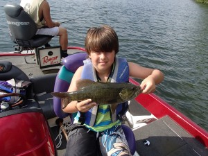 Jack with the first smallmouth of his career!